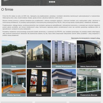 Strona Internetowa firmy Alu-Win
