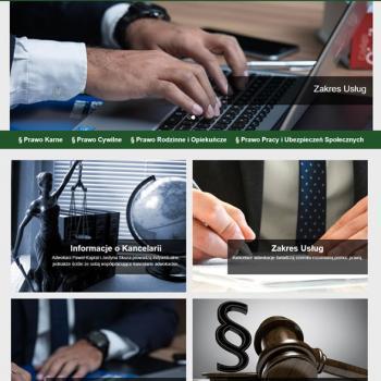 Strona internetowa Kancelarii Adwokackich