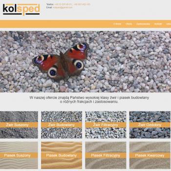 Strona Internetowa firmy Kolsped Sp. z o.o.
